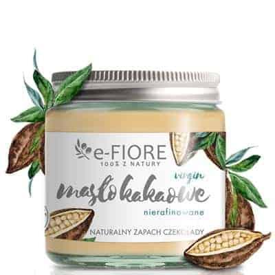 Masło Kakaowe Virgin nierafinowane zapach czekolady 120ml e-Fiore