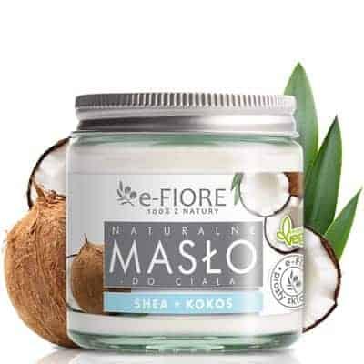 Masło do ciała 100% Naturalne Shea Butter Kokosowe 120ml e-Fiore