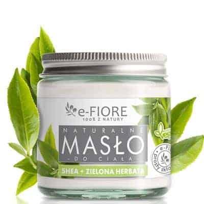 Masło do ciała 100% naturalne Shea Butter Zielona Herbata 120ml e-Fiore