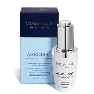 Algolight zaawansowane serum rewitalizujące i przeciwzmarszczkowe cera tłusta i mieszana 35ml Sensum Mare