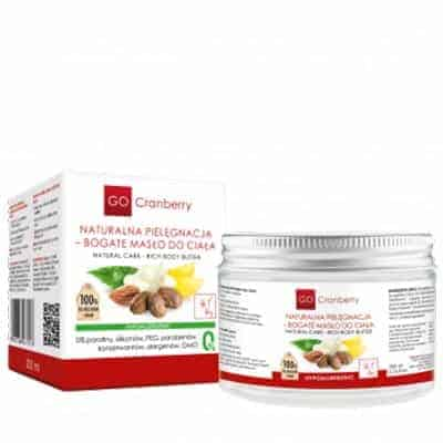 Naturalna Pielęgnacja – Bogate Masło Do Ciała 200ml GoCranberry