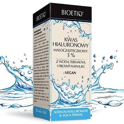 Kwas hialuronowy 3 % z woda termalną i Prowitaminą B5 30ml Bioetiq