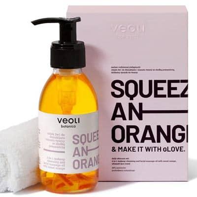Olejek 2w1 do demakijażu i masażu twarzy z kawałkami pomarańczy SQUEEZE AN ORANGE 132,7g Veoli Botanica