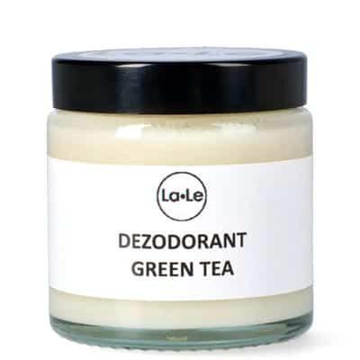 Dezodorant ekologiczny w kremie z olejkiem Green Tea opakowanie szklane 120ml La-Le