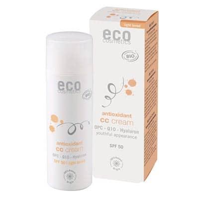 Krem CC jasny SPF 50 z OPC, Q10 i kwasem hialuronowym 50ml Eco Cosmetics