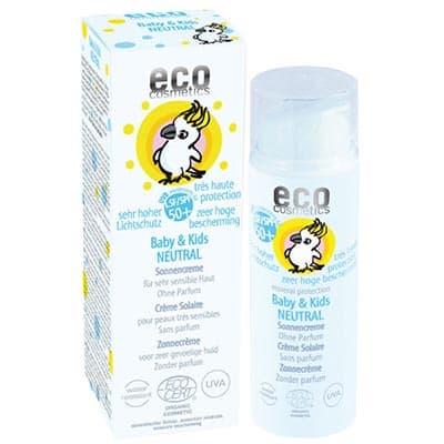 Krem na słońce SPF 50+ dla dzieci i niemowląt Neutral 50ml Eco Cosmetics