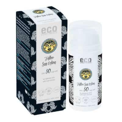 Emulsja na słońce SPF 30 dla skóry z tatuażami z ekstraktem z noni Tattoo Care 100ml Eco Cosmetics