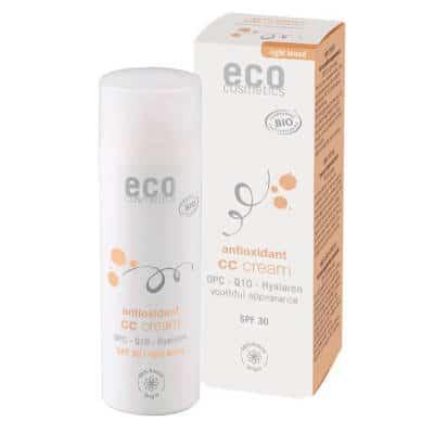 Krem CC jasny SPF 30 z OPC, Q10 i kwasem hialuronowym 50ml Eco Cosmetics