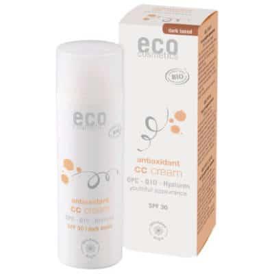 Krem CC ciemny SPF 30 z OPC, Q10 i kwasem hialuronowym 50ml Eco Cosmetics