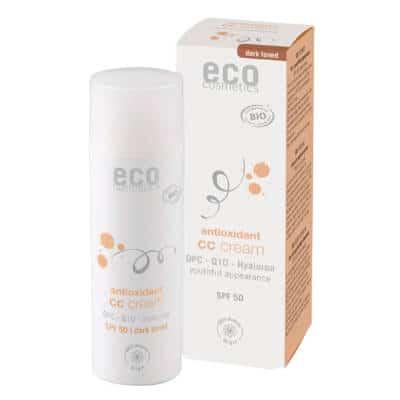Krem CC ciemny SPF 50 z OPC, Q10 i kwasem hialuronowym 50ml Eco Cosmetics
