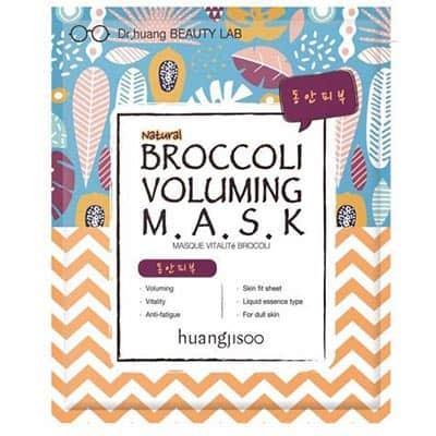 huangjisoo Broccoli witalizująco-liftingująca maska do twarzy w płachcie Brokuł, Echinacea i Adenozyna 25 ml
