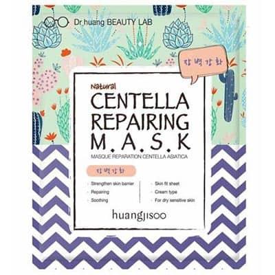 huangjisoo Centella regenerująco-naprawcza maska do twarzy w płachcie o działaniu wzmacniającym i ochronnym Gotu Kola, Ceramidy i Propolis 25 ml