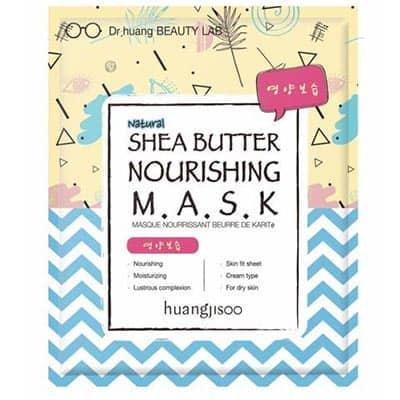 huangjisoo Shea Butter odżywczo-nawilżająca maska do twarzy w płachcie Masło Shea, GFF i Propolis 25 ml