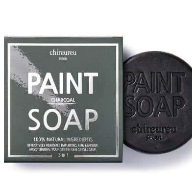 Chireureu Paint Soap głęboko oczyszczające z czarnym węglem bambusowym 100g