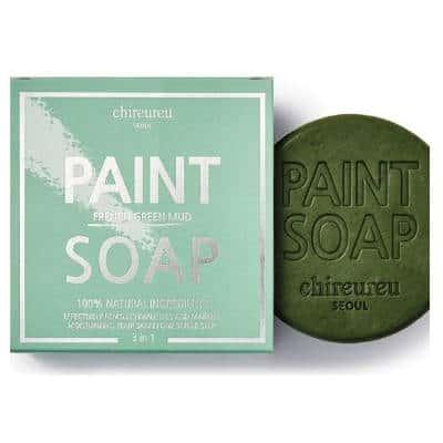 Chireureu Paint Soap nawilżająco-równoważące z francuskim zielonym błotem 100g