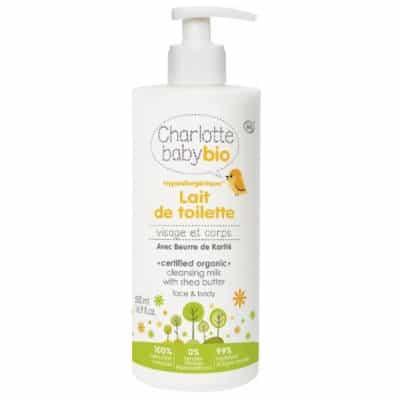 Hipoalergiczne mleczko kosmetyczne z masłem shea 500ml Charlotte Baby Bio