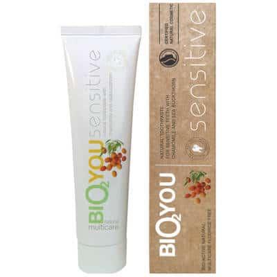 Certyfikowana pasta do zębów wrażliwych z rokitnikiem, rumiankiem i aloesem 100ml Bio2You
