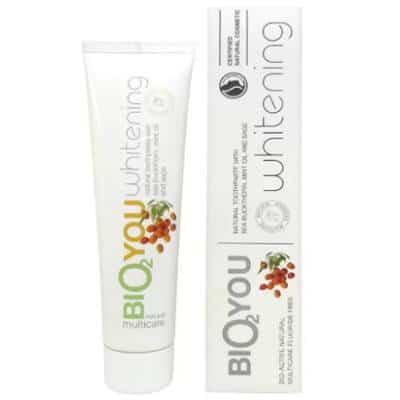 Certyfikowana wybielająca pasta do zębów z rokitnikiem, szałwią i olejkiem miętowym 100ml Bio2You