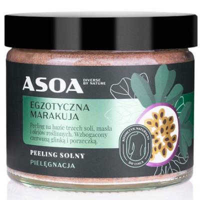 Peeling solny – egzotyczna marakuja 250ml Asoa