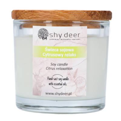 Świeca sojowa cytrusowy relaks 165g Shy Deer
